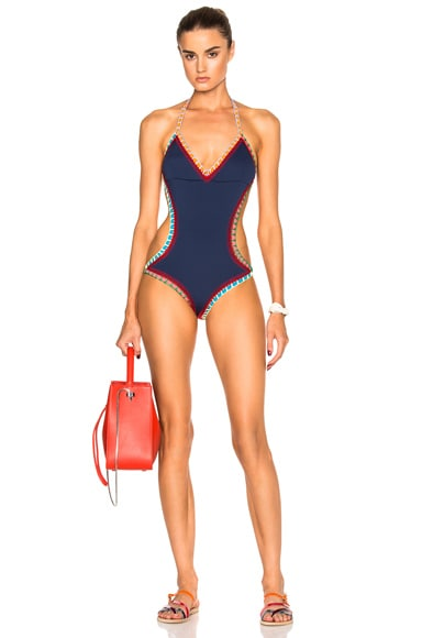 KIINI Tasmin Mono Swimsuit in Navy Multi