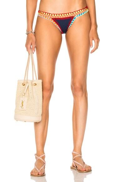 KIINI Tasmin Poly-Blend Bikini Bottom in Navy Multi