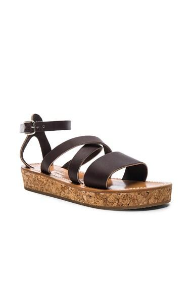 Leather Thoronet Platform Sandals