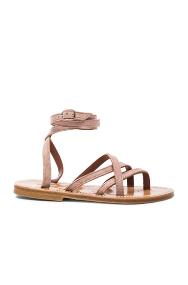 Leather Zenobie Sandals