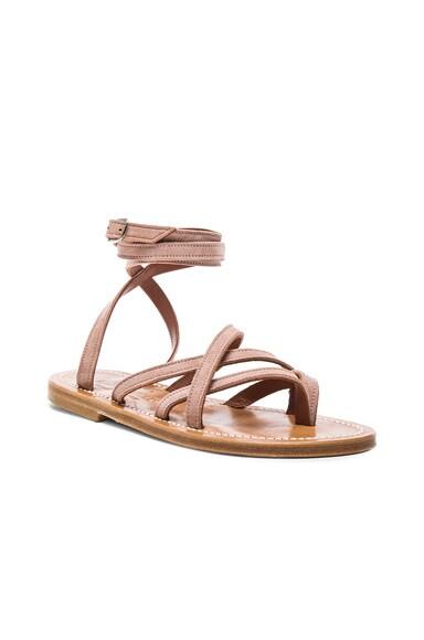 Leather Zenobie Sandals