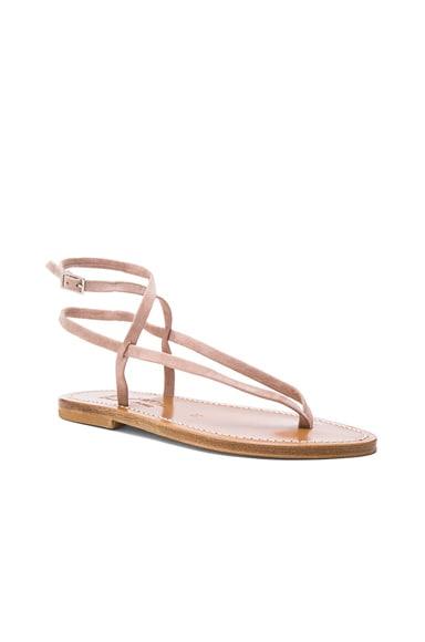 Suede Delta Sandals