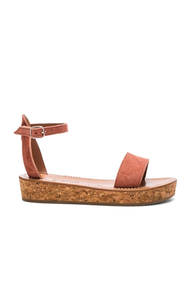 K Jacques Suede Thalloire Sandals in Suede Gilly