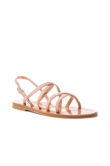 Metallic Suede Batura Sandals