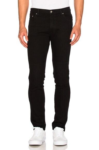Kenzo Biker Panel Jeans in Black