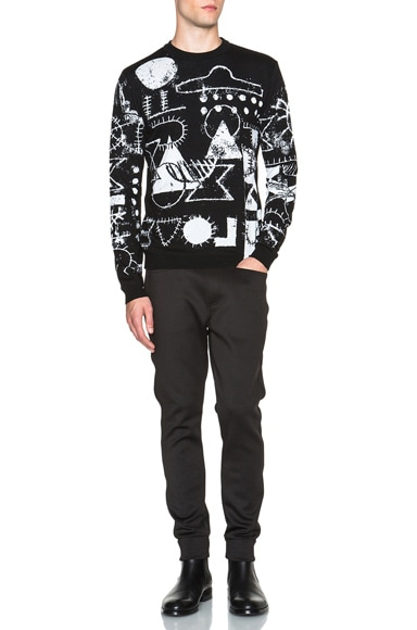 Scribble UFO Tubular Wool Jacquard Sweater