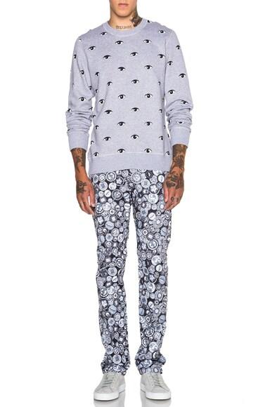 Icons all Over Eye Print Sweatshirt