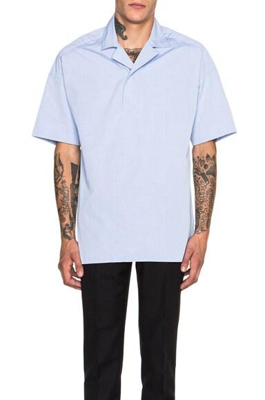 KENZO Large Popover Shirt in Light Grey
