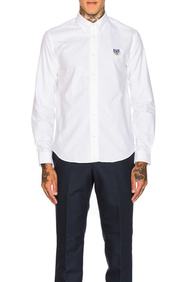 Kenzo Embroidered Oxford in White