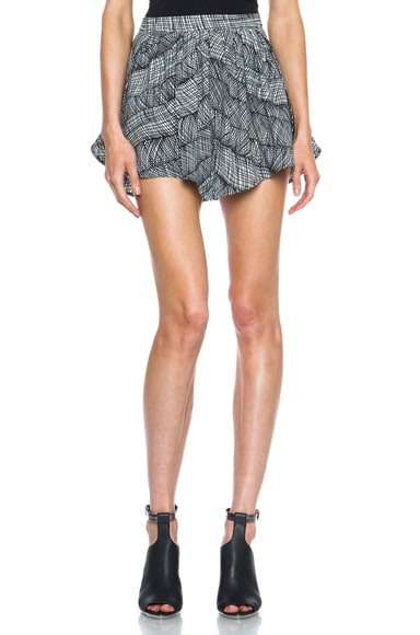 Graphic Curtain Poly Draped Shorts