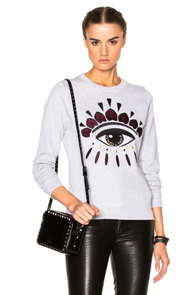 Kenzo The Eye Sweatshirt in Light Grey