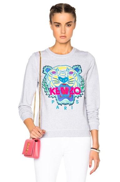 KENZO Classic Tiger Sweatshirt in Light Grey