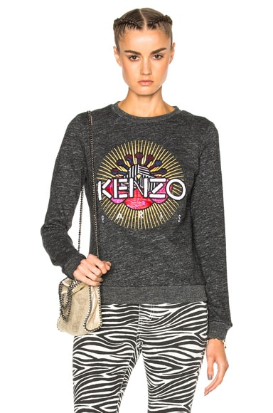 Kenzo Jaspe Sweatshirt in Dark Grey