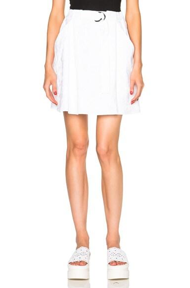KENZO Moonmap Satin Cotton Jacquard Skirt in White
