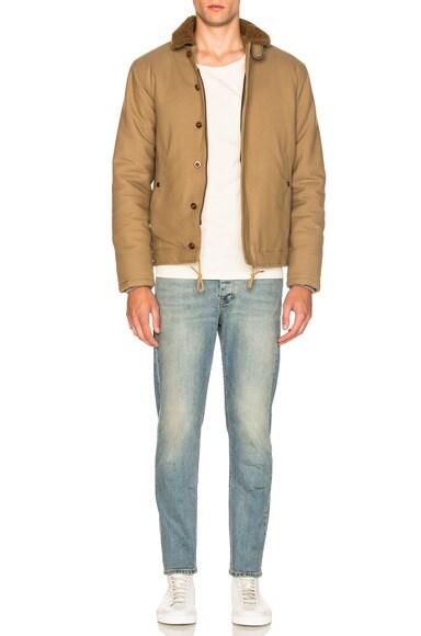 Sheep Shearling Collar Jacket