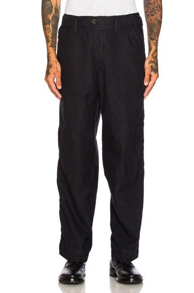 kolor BEACON Cotton Wool Trousers in Navy
