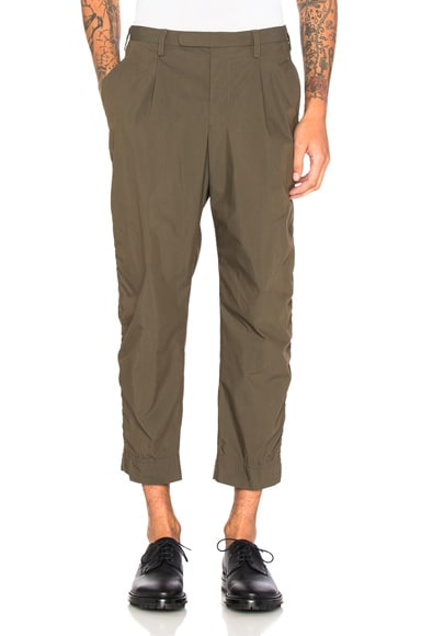 kolor BEACON Elastic Waistband Trousers in Khaki