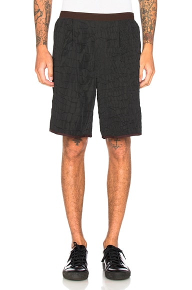 kolor Croc Print Shorts in Black