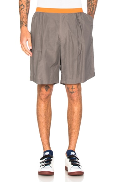 Contrast Waistband Shorts