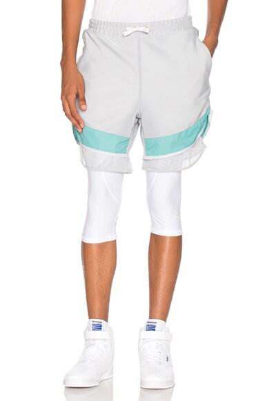 kolor x Adidas Film Yarn Shorts in Stone