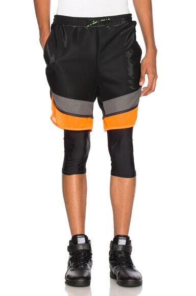 kolor x Adidas Film Yarn Shorts in Core Black