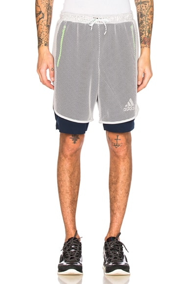 kolor x Adidas Climachill Shorts in Collenavy
