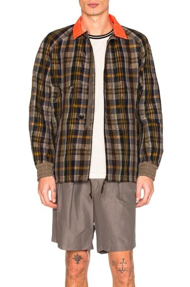 kolor Contrast Collar Jacket in Grey