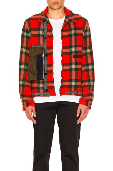 Zip Pocket Flannel Jacket
