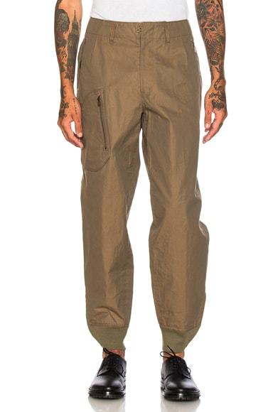 kolor Cotton Cargo Pants in Sage Gold Brown