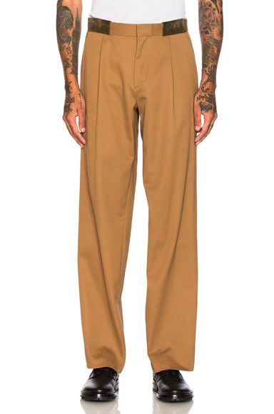 kolor Cotton Trousers in Camel