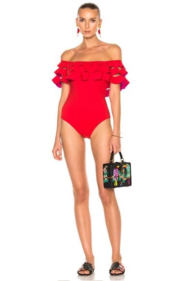 Karla Colletto La Dolce Vita Swimsuit in Cherry & Magenta