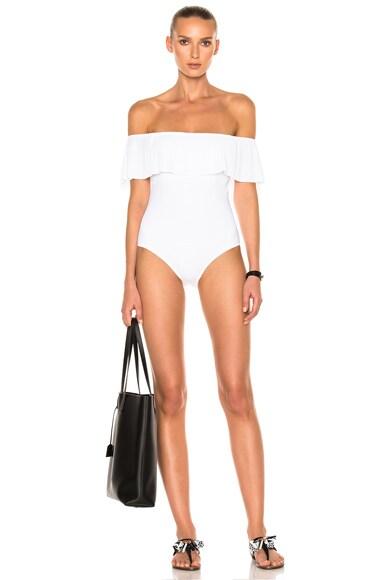 Karla Colletto Josephine Swimsuit in White