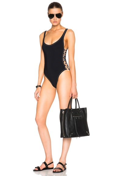 Rings Round Neck Swimsuit