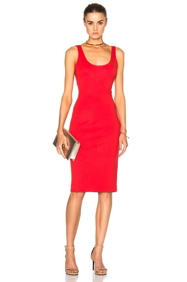 L'AGENCE Roxanne Dress in Rouge