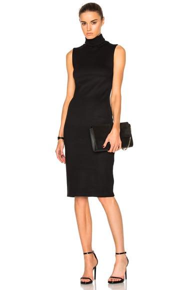 L'AGENCE Sydney Funnel Neck Dress in Black