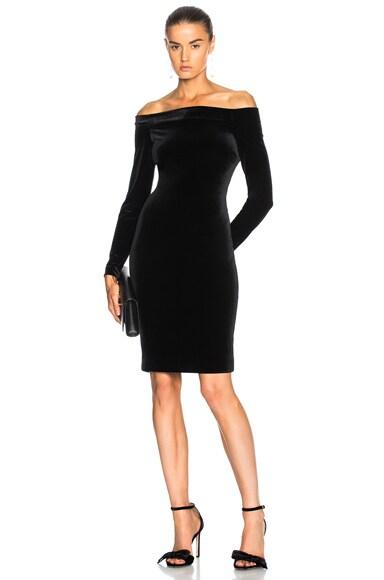 Daphne Off Shoulder Velvet Dress