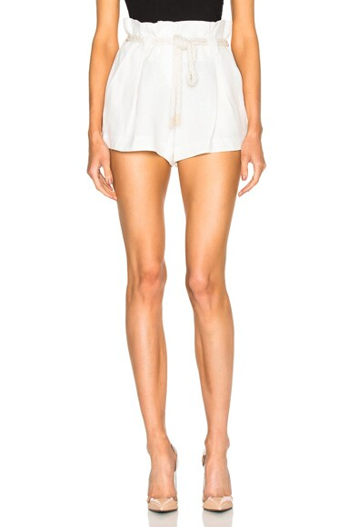 L'AGENCE Edie Shorts in Ivory
