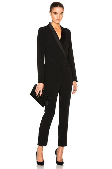 L'AGENCE Wes Jumpsuit in Black