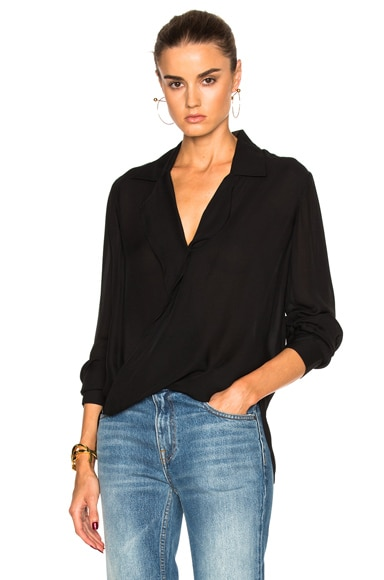 L'AGENCE Rita Top in Black