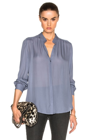 L'AGENCE Bianca Top in Blue Fog