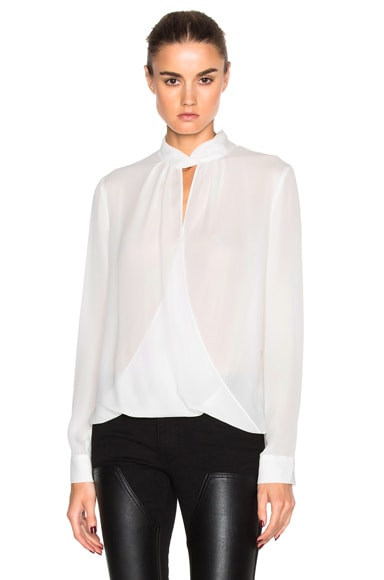 L'AGENCE Kendra Top in Ivory