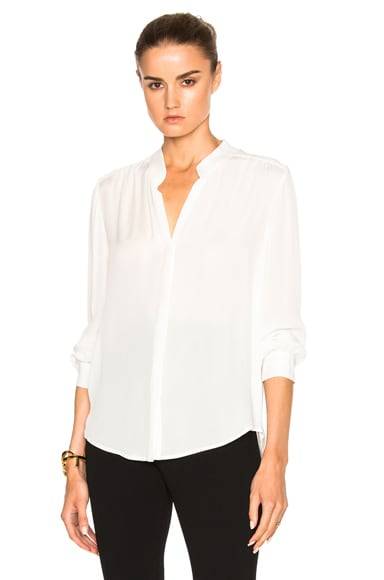 L'AGENCE Bianca Top in Ivory