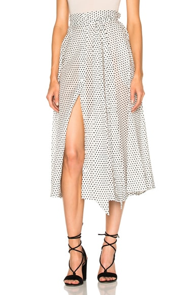 Lisa Marie Fernandez Beach Skirt in Black & White Polka Dots