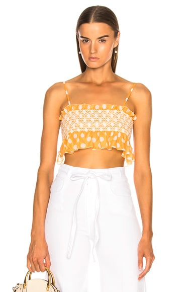 Selena Smocked Crop Top