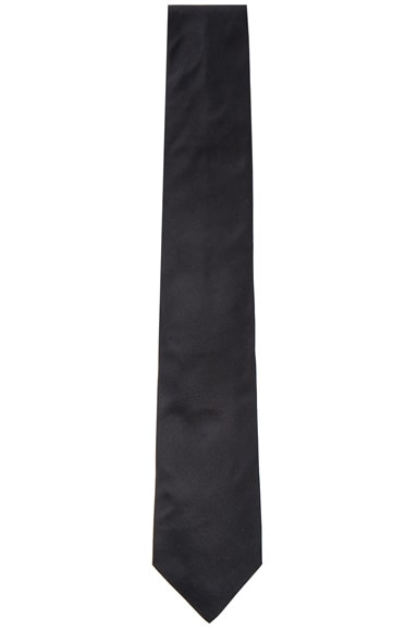 Lanvin Grosgrain Tie in Black
