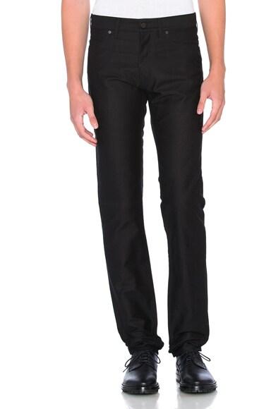 Lanvin Denim Skinny Pants in Black