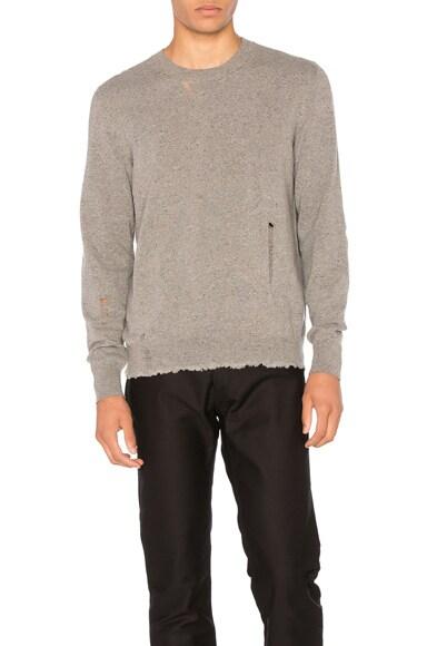 Open Stitch Crewneck Sweater