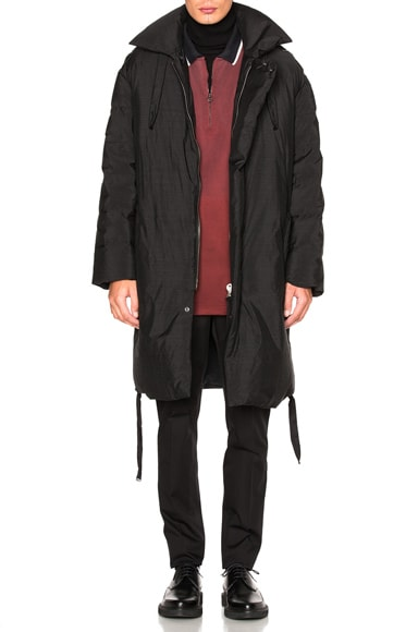 Lanvin Light Tech Down Parka in Anthracite