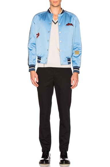 Embroidered Patches Baseball Jacket