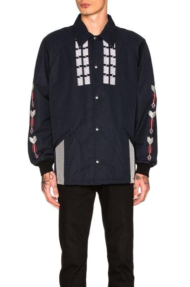 Lanvin Embroidered Jacket in Ink Blue